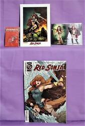 45th Anniversary Red Sonja Comic Trading Card Lithograph Pin Dynamite 2016