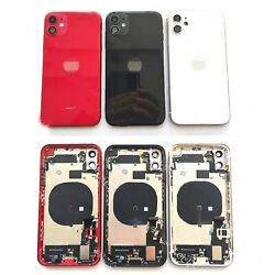For Iphone 11 11 Pro Max Back Housing Battery Glass Rear Cover Frame Small Parts