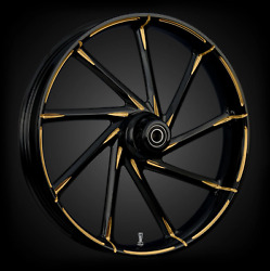 Fat Tire 21 X 5.5 Kinetic Dyeline Touch Of Color Gold Wheel Package - 2000-19