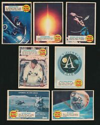 1969 O-pee-chee Canada Man On The Moon Set Of 55 -group Of 7 Cards