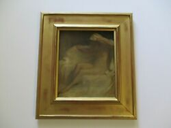 Antique Oil Painting Mystery Haunting Nude Portrait Impressionist Impressionism