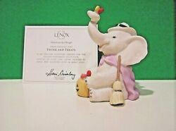 Lenox Trunk And Treats Halloween Elephant Witch October Sculpture New In Box Coa