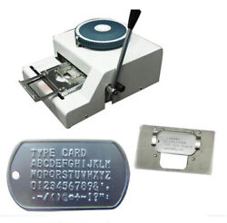 Dog Tag Embosser Machine Stainless Steel Metal Number Plate 52 Letters Character
