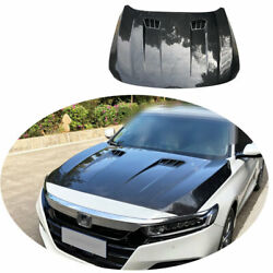 Fit For Honda Accord 10th 2018-2021 Carbon Fiber Front Hood Vented Bonnet Cover