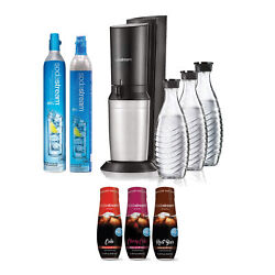 Sodastream Aqua Fizz Sparkling Water Machine Kit With Carafe And Syrups
