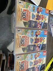Super Mario 3d All-stars - Nintendo Switch Mint Delisted Lot Of 3 Games