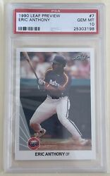 Rare 1990 Leaf Special Preview Eric Anthony 7 Psa 10 Houston Astros Pop 4