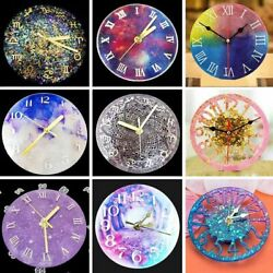 New Silicone Clock Epoxy Resin Mold DIY Making Casting Tool Mould Handmade Craft