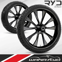 Ryd Wheels Diode Blackline 21 Front And Rear Wheels Tires Package 2008 Bagger