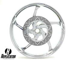 21 X 3.5 Aggressor Cvo Wheel W/ Matching Rotors And 120/70-21 Front Tire - Chrome