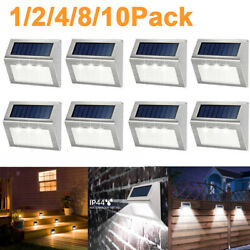 Solar Led Power Deck Lights Outdoor Pathway Garden Stairs Step Fence Lighting Us