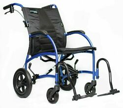 """Strongback Excursion 12"""" S Lightweight Transport Chair Wheelchair With Brake New"""