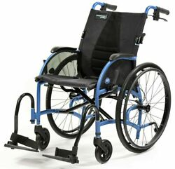 Strongback Mobility 22andrdquo S Lightweight Compact Fold Wheelchair W/ Attendant Brake