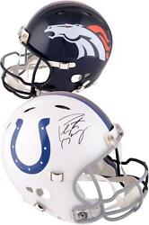Peyton Manning Nfl Signed Broncos And Colts Helmets Fanatics Authentic Coa