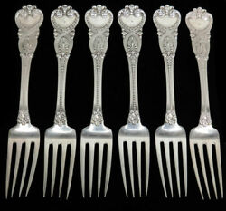 And Co Saint James 6 Sterling Silver 7 1/2 Dinner Forks No Mono