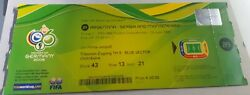 Ticket Of Lionel Messi Debut World Cup Rookie Argentina Serbia Rare