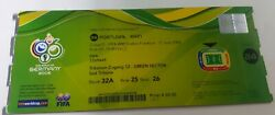 Ticket Of Rookie Cristiano Ronaldo 1st Scoring In World Cup Rare