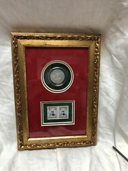Framed Coin And Stamp Middle East 1919