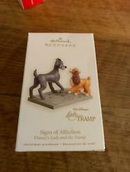 Hallmark Keepsake Ornament 2008 Signs of Affection Disney#x27;s Lady and the Tramp