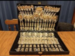 Wm. Rogers And Son Goldplated Silverware 51 Pc.