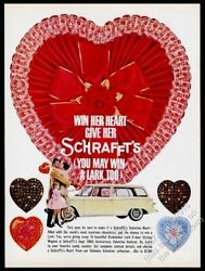 1961 Schrafftand039s 100th Annivesary Valentineand039s Day Heart Chocolate Print Ad