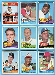 1965 Topps Lot Of 14 Diff Includes Mickey Mantle And Others Baseball Cards E/m- Nm