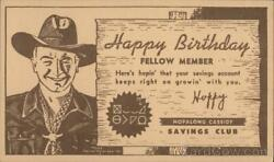 Advertising Happy Birthday Fellow Member-here's Hopin' That Your Savings Account