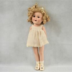 Vintage 1930's Porcelain Shirley Temple Doll 15 Missing Sole On Shoe Preowned