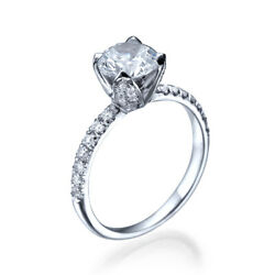 1.21ct D-si1 Diamond Vintage Engagement Ring 950 Platine Taille 6