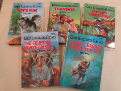 Great Illustrated Classics - 5 Books White Fang, Ivanhoe, 20,000 Leagues