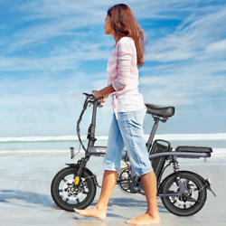 14/16/20and039and039 Folding Electric Bike Ebike City Bicycle 20mph 10.4/20ah Battery Y