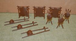 Marx Wagon Train Play Set 3 Piece Indian Accessories - 3 Complete Sets