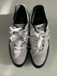 Brands New Men's Size 9.5 - Nike Air Max 1 Golf White Black Golf Shoes