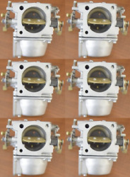 Clean Early 90and039s Yamaha Carburetor Set Of 6 C 61a-621046 225 250 Hp