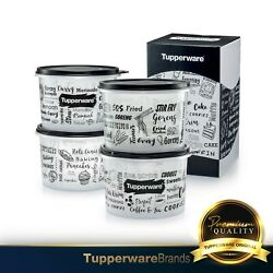 Tupperware Trendz Kitchenette Set / Canister / With Gift Box 1.1l 4units