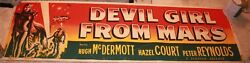 Devil Girl From Mars 1955 Original Movie Poster Banner Very Rare Science Fiction