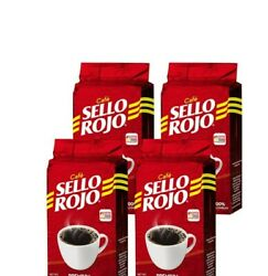 4 pack Cafe Sello Rojo100% Colombian Coffee 8.8 oz PREMIUM Ground Coffee.