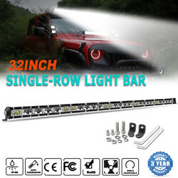 1200w 32 Inch Led Light Bar Spot Flood Combo For Jeep Tractor Boat Offroad 34''