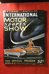 1953 Second Annual International Auto Show Offical Program Grand Central Palace