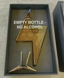 Tesla Tequila Empty Bottle With Stand And Box