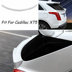 For Cadillac Xt5 2016-2019 2020 Abs White Trunk Middle Spoiler Wing Flap Refit