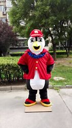 Penguin Mascot Costume Suit Cosplay Party Game Dress Unisex Halloween Adult Gift