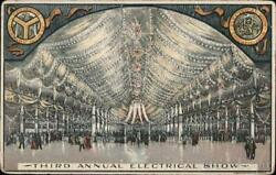 Chicagoil Third Annual Electrical Show Cook County Illinois Postcard Vintage