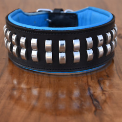 3quot; Wide Studded Dog Collar Padded Pit Bull Collar For Large Breeds Heavy Duty