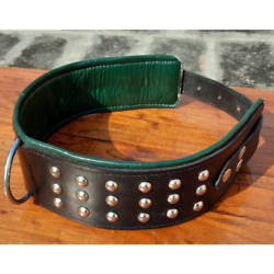 3quot; Wide Studded Dog Collar Soft Leather Heavy Duty Pet Collar For Large Breeds