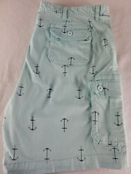 The Foundry Supply Co Cargo shorts anchors pattern Mens Size 48 nautical casual