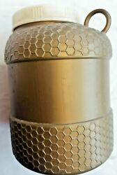 Rare Vintage Tnuva Milk And Dairy Israel Honey Pot Canister Container Jar