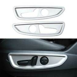 Silver Steel 4wd Seat Adjust Handle Button Panel Trim For Infiniti Qx50 2018-21