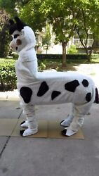 Cow Mascot Costume Cosplay Party Game Dress Outfit Advertising Halloween Fancy @