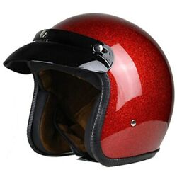 New Vintage Motorcycle Helmet Men And Womenclassic Dot Certified Open Face Design